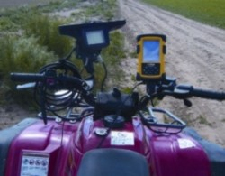 ATV with Trimble AgGPS EZ map software
