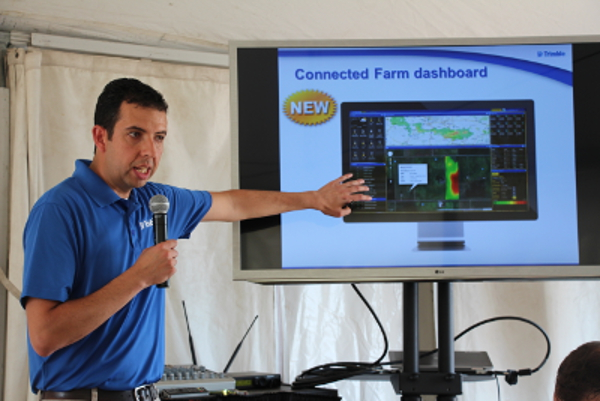 Trimble's Mike Martinez discusses Connected Farm at Farm Progress Show 2013.