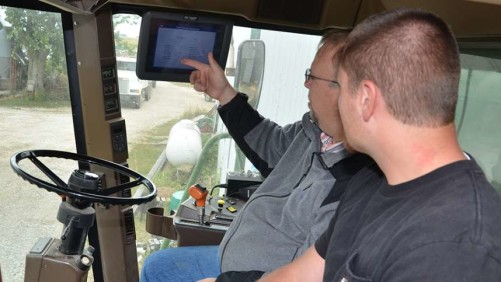 Precision Ag Instructor and student