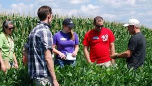 Students Soybean Field
