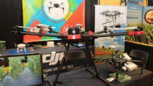The DJI Agras MG-1 spray application drone.