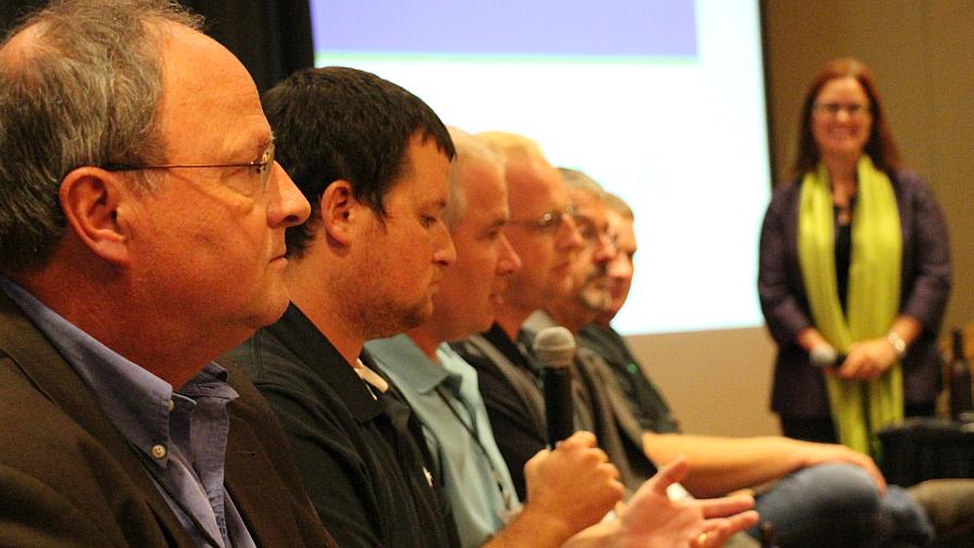 "The 2016 Precision Ag Innovations Series ""Happy Hour: Farmer Perspective On The Day's Discussion"" Panel."