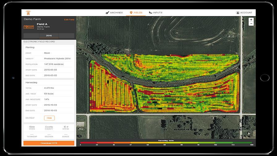farmobile dashboard heatmap