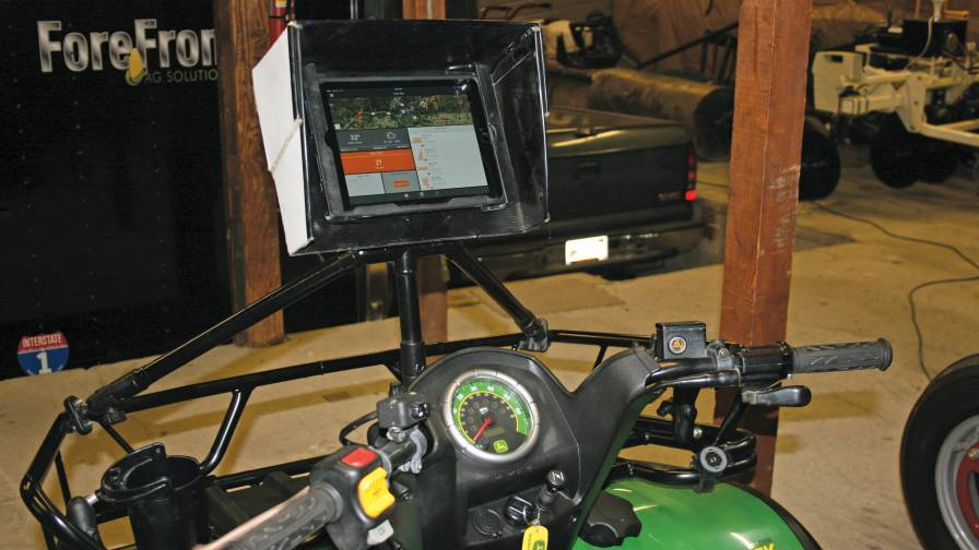 ATV Scout with homemade iPad holder