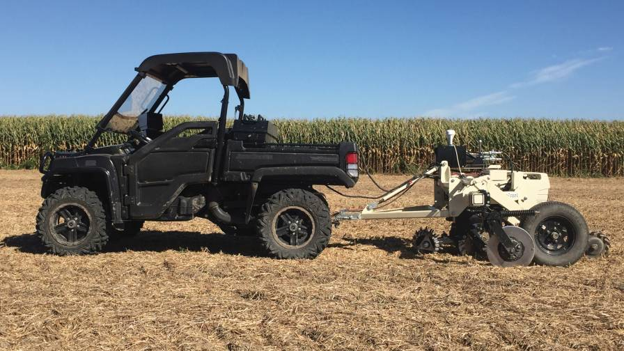 Eller Gator pulling Veris probe soil sampling