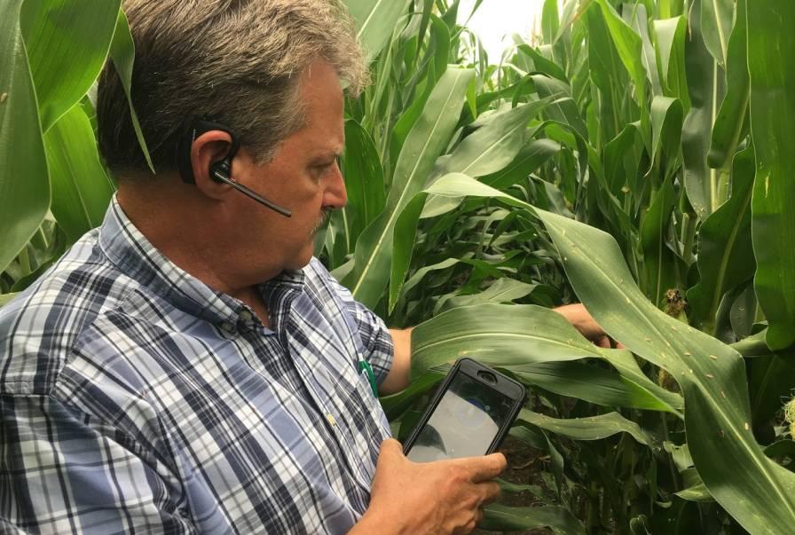 Bruce Rasa corn AgVoice app