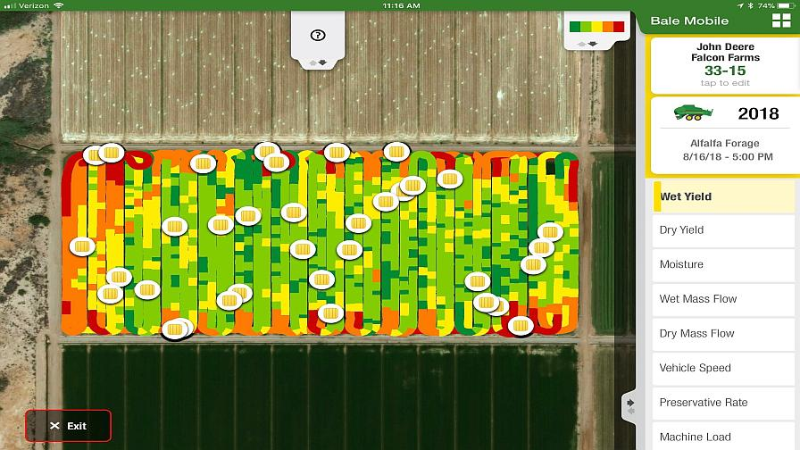 Deere Launches Bale Mobile App With Hay And Forage Yield